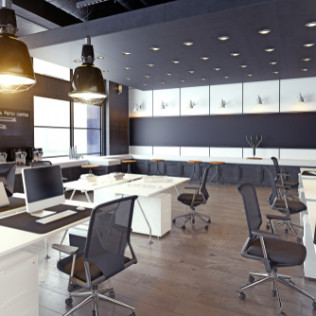 modern grey office remodeling service